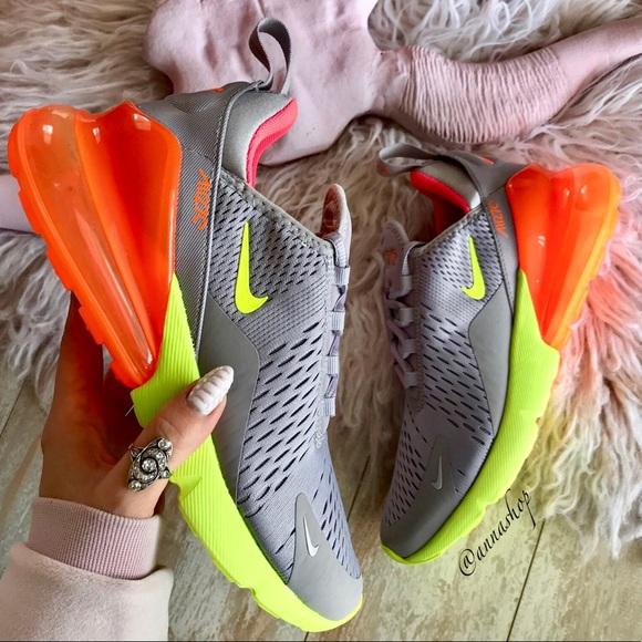 NWT Nike Air Max 270 Grey Orange NWT
